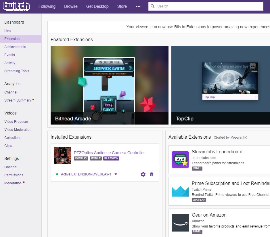 Twitch Extension