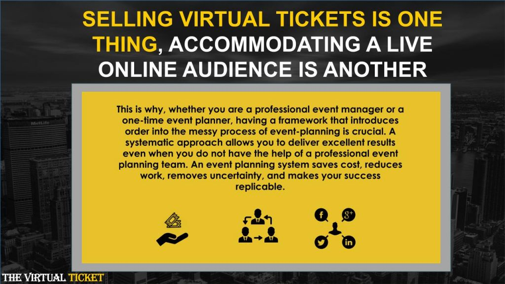 ACCOMMODATING A LIVE ONLINE AUDIENCE