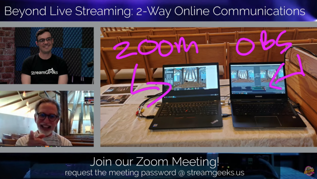 using zoom for worship streaming