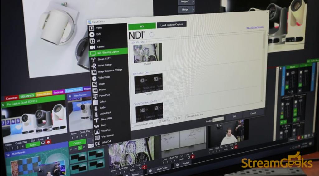 NDI Camera Discovery