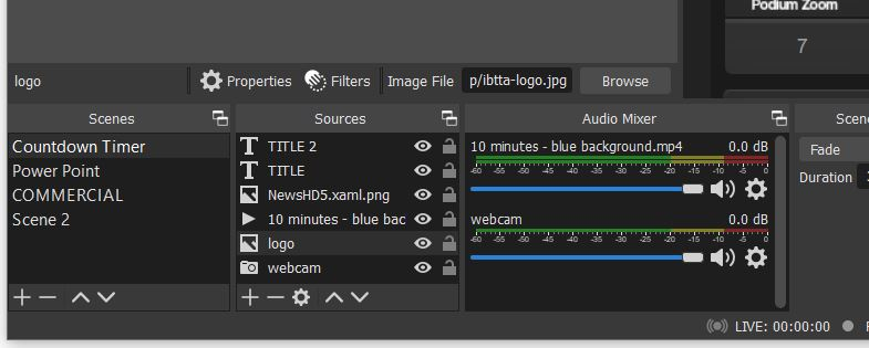 New Sources Menu in OBS