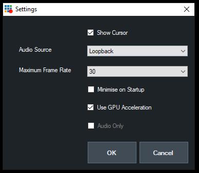 Desktop Capture Settings