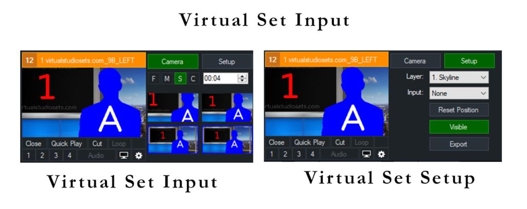 Virtual Set Inputs