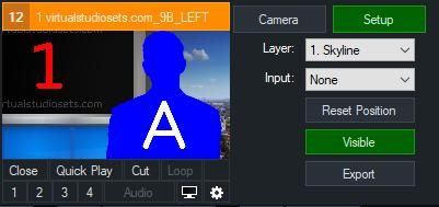 Virtual Set Setup