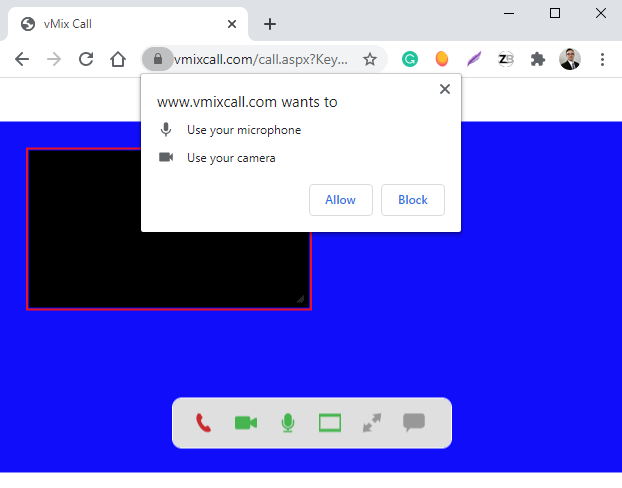 vMix Call in Browser 2