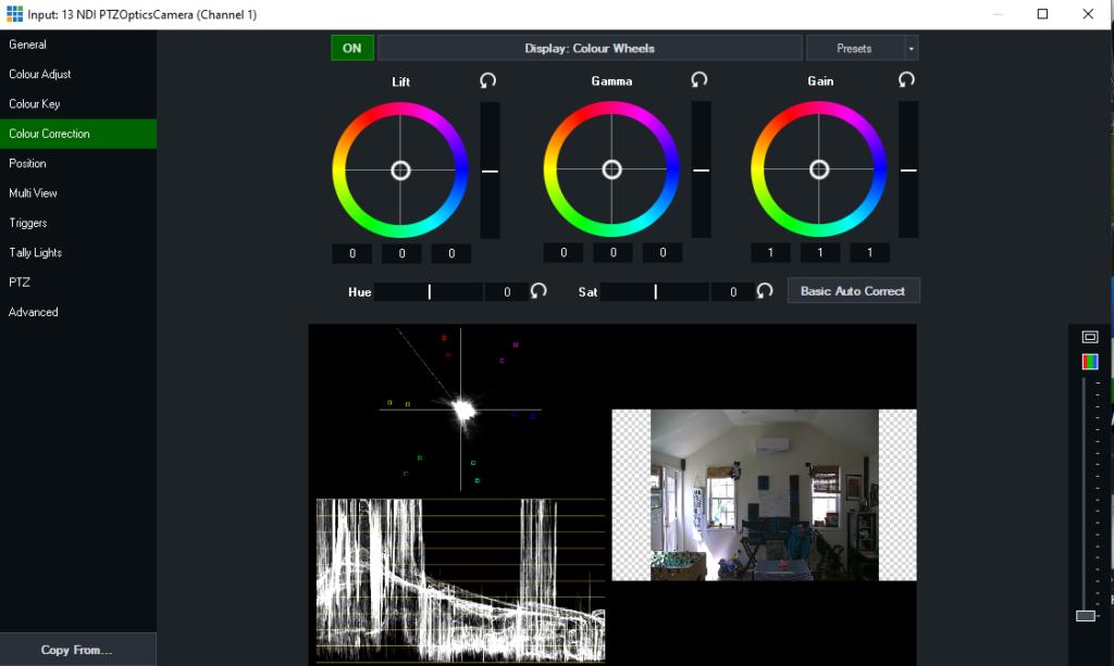 vMix Color Correction Tools