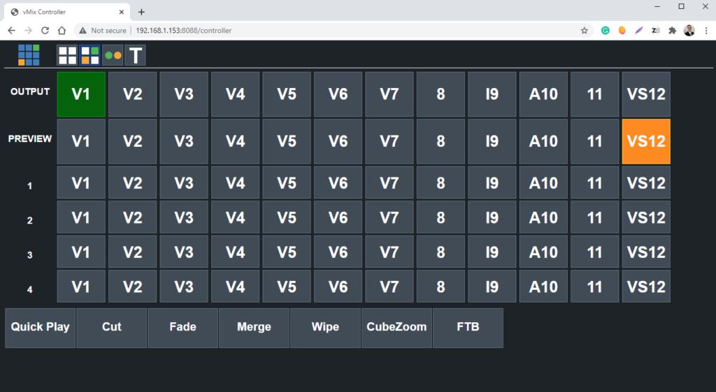 vmix web controller